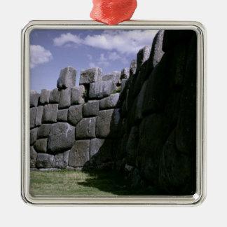 Sacsahuman Incan Fortress Silver-Colored Square Decoration