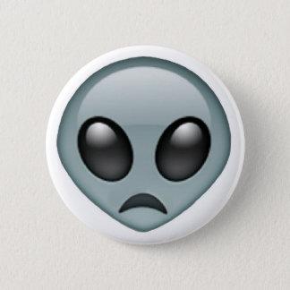 Sad Alien Emoji 6 Cm Round Badge