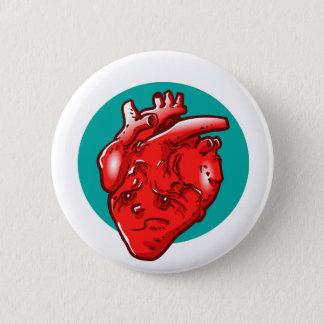 sad and broken heart cartoon 6 cm round badge