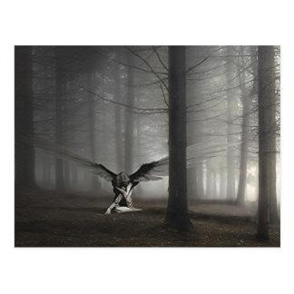 Sad Angel in the Woods Postcard