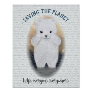 Sad Baby Polar Bear Poster