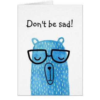 Sad bear card