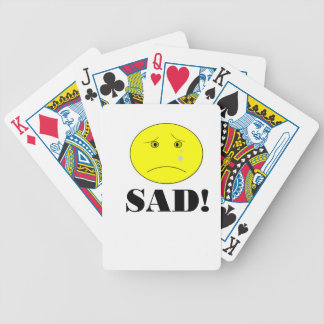 SAD! BICYCLE PLAYING CARDS