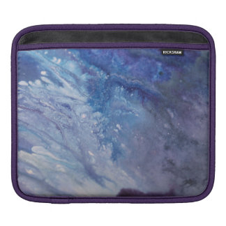 Sad blue white purple abstract paint wave water iPad sleeve