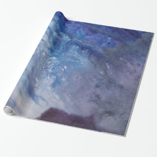 Sad blue white purple abstract paint wave water wrapping paper