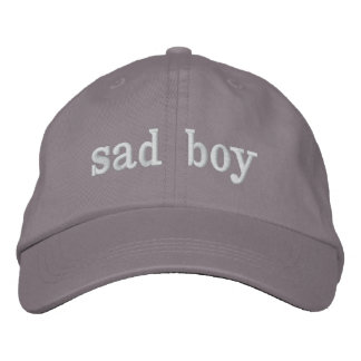 sad boy hat embroidered hats