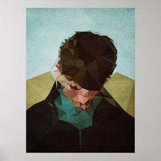 Sad Boy - Kubistika by Boris Draschoff Poster