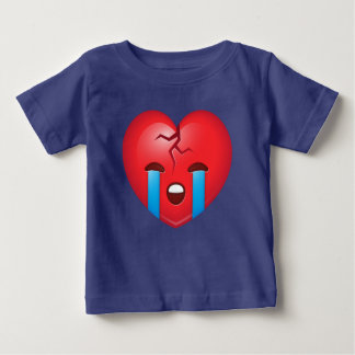 Sad Broken Heart Emoji Baby T-Shirt