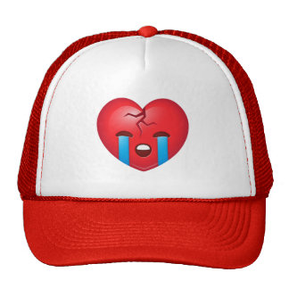 Sad Broken Heart Emoji Cap