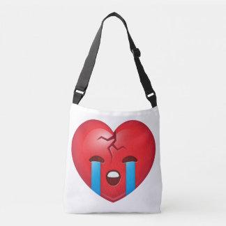 Sad Broken Heart Emoji Crossbody Bag
