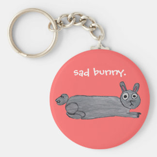 Sad Bunny Keychain