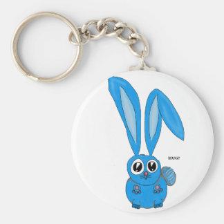Sad Bunny Wants some Bunny to Love Keychains