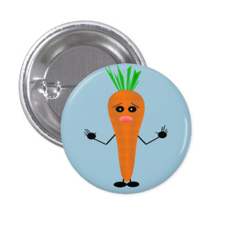 Sad Carrot by Kenneth Yoncich 3 Cm Round Badge