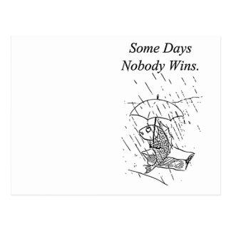 Sad Cartoon Fish Bad Day Sympathy Postcard