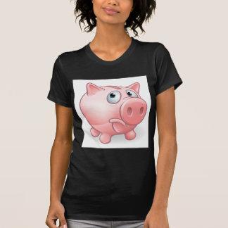 Sad Cartoon Piggy Bank T-Shirt