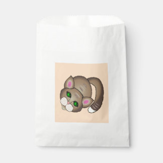 Sad cat favour bags