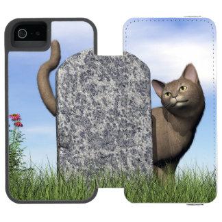 Sad cat near tombstone incipio watson™ iPhone 5 wallet case