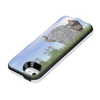 Sad cat near tombstone iPhone SE/5/5s battery case