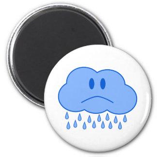 Sad Cloud 6 Cm Round Magnet