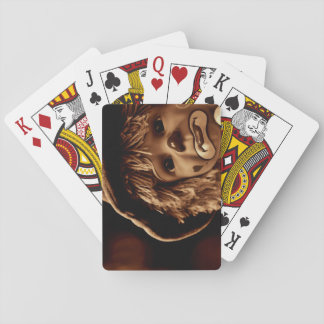 Sad Clown Doll Face Playing Cards