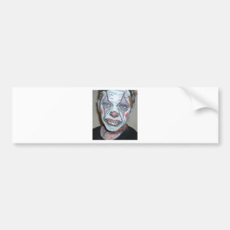 Sad Clowns Scary Clown Face Painting Bumper Sticker