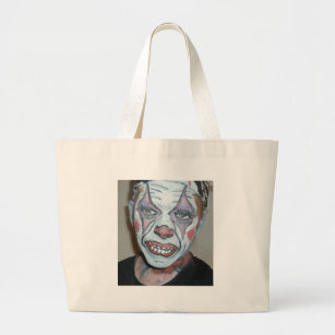 a86ae6344 Sad Clowns Scary Clown Face Painting Large Tote Bag