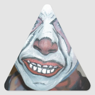 Sad Clowns Scary Clown Face Painting Triangle Sticker
