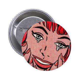 Sad Comic 6 Cm Round Badge