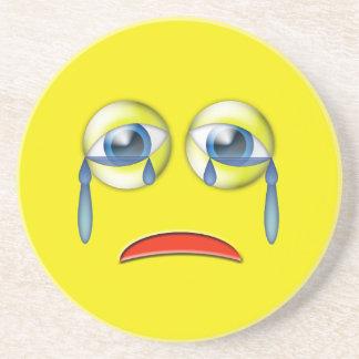 Sad Crying Emoji Coaster