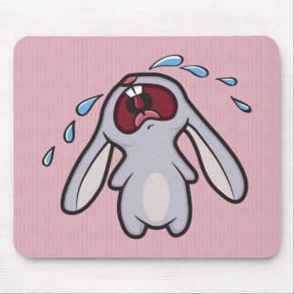 Sad Crying Rabbit | Bawling Bunny Mouse Pad
