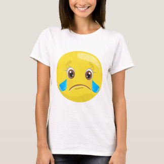 Sad Crying Tears Emoji Face T-Shirt