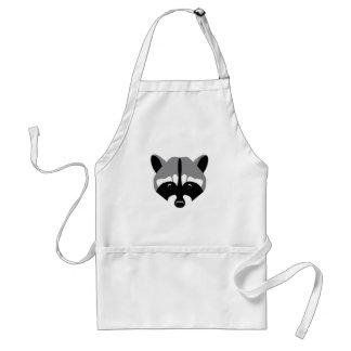Sad Cute Raccoon Standard Apron