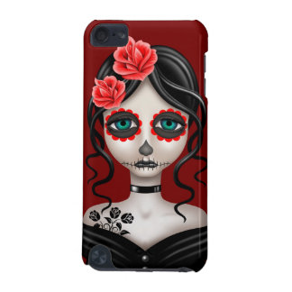 Sad Day of the Dead Girl on Red iPod Touch 5G Cases