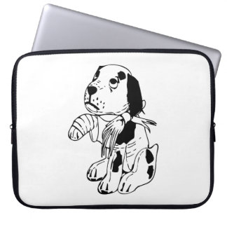 Sad Dog With Broken Leg Laptop Sleeve