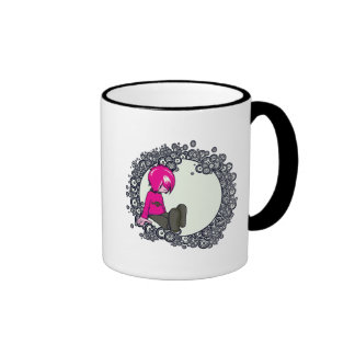 sad emo kid vector illustration mug