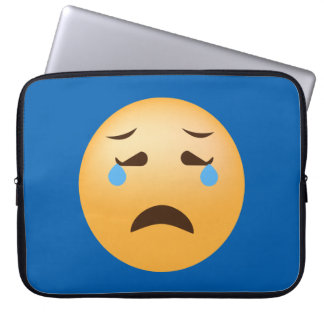 Sad Emoji Laptop Sleeve