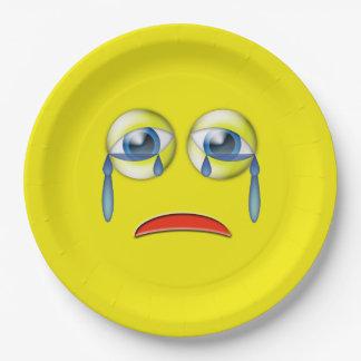 Sad Emoji Paper Plate