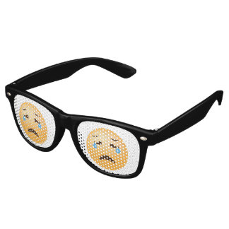 Sad Emoji Retro Sunglasses