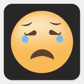 Sad Emoji Square Sticker