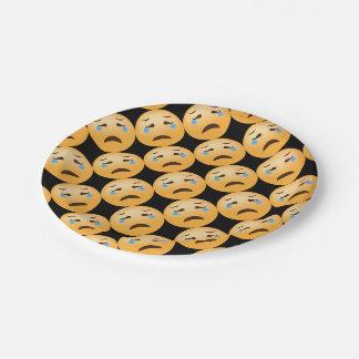 Sad Emojis 7 Inch Paper Plate