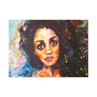 Sad eyes painting canvas print