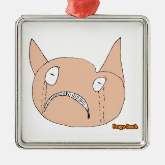 Sad Face Christmas Tree Ornament