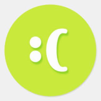 Sad Face Messenger Text Messag Text Round Sticker