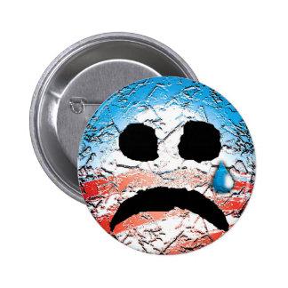 Sad Face Obama Logo 6 Cm Round Badge