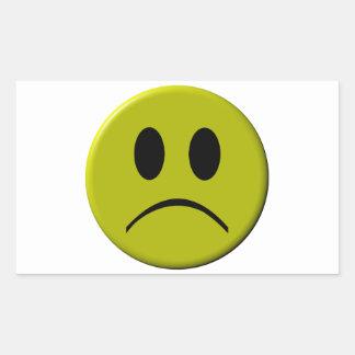Sad Face Rectangular Sticker