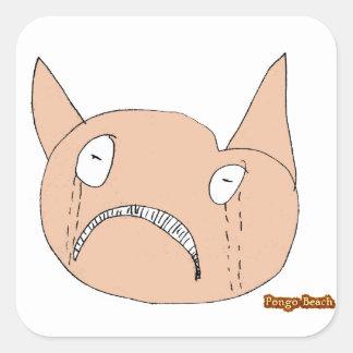 Sad Face Square Sticker