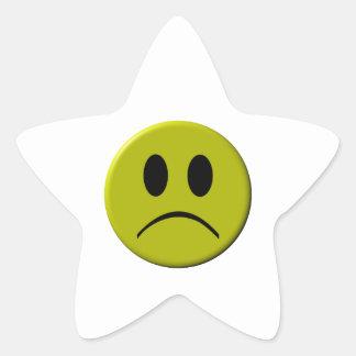 Sad Face Star Sticker