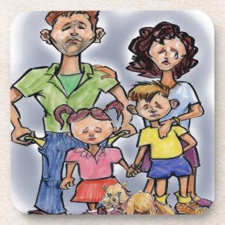 Sad Family Coaster