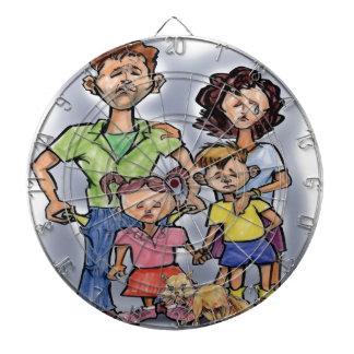 Sad Family Dartboard