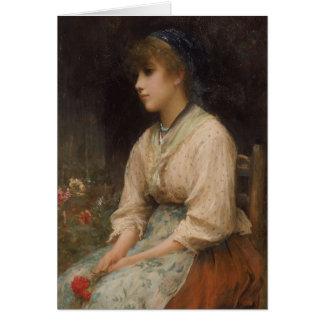 Sad Flower Girl Card